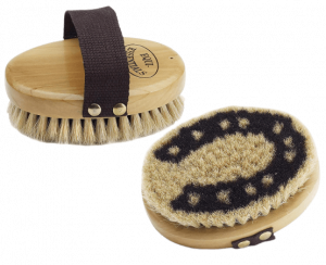 Equi-Essentials Wood Backed Horse-shoe & Body Brush